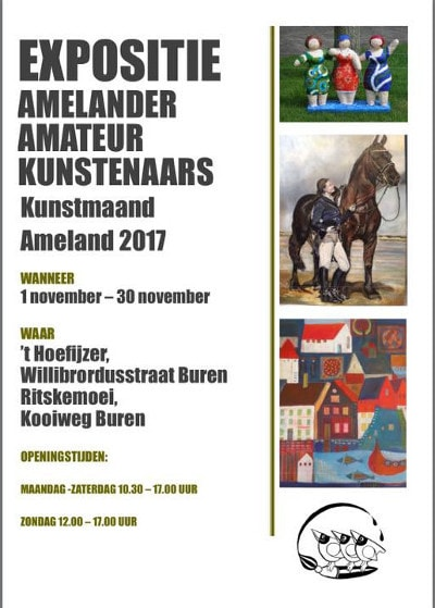 flyer of the Amelander Amateurkunstenaars