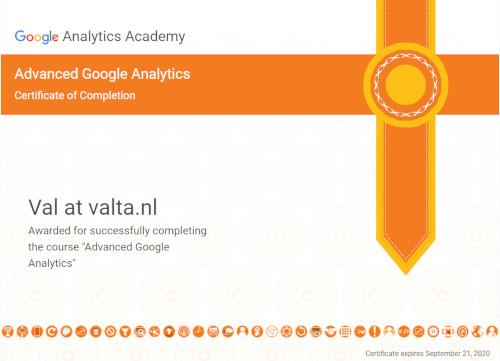 My new Google certificate